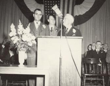 The first Italian-American Mayor, Peter Levanti, was elected in November 1949 and served as Mayor from 1950 to 1956.