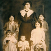 Cattel family when the mother and children were still in Italy in 1915 just before they came to US by boat.