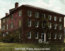 The famous American architect Asher Benjamin designed the frist Deerfield Academy buildin, which became the Memorial Hall Museum in 1880. Courtesy Pocumtuck Valley Memorial Association, Memorial Hall Museum, Deerfield, MA.
