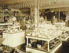 By the turn of hte twentieth century, even in small towns American consumers could shop in well-lit, well-stocked stores such as George N. Kidder & Company.  Courtesy of Pocumtuck Valley Memorial Association, Memorial Hall Museum, Deerfield, MA.