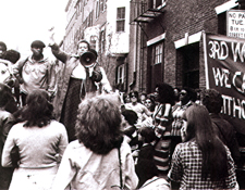 """We Cannot Live WIthout Our Lives"" rally against violence against women in 1979"