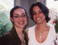 Sisters Abby Morales, Holyoke Clemente Class of 2004, and Raquel Figueroa, Class of 2007