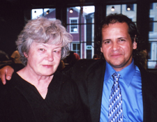 New Bedford writing tutor Norine Cleffi and graduate Gilbert Guzman
