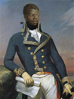 A portrait of Toussaint Louverture