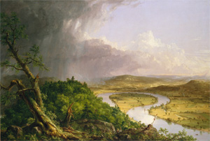 View from Mount Holyoke, Northampton, Massachusetts, after a Thunderstorn - The Oxbow