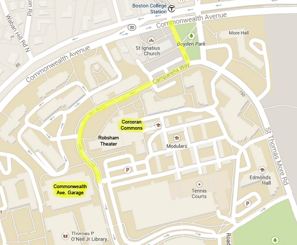 Directions to Corcoran Commons, Boston College - Mass Humanities