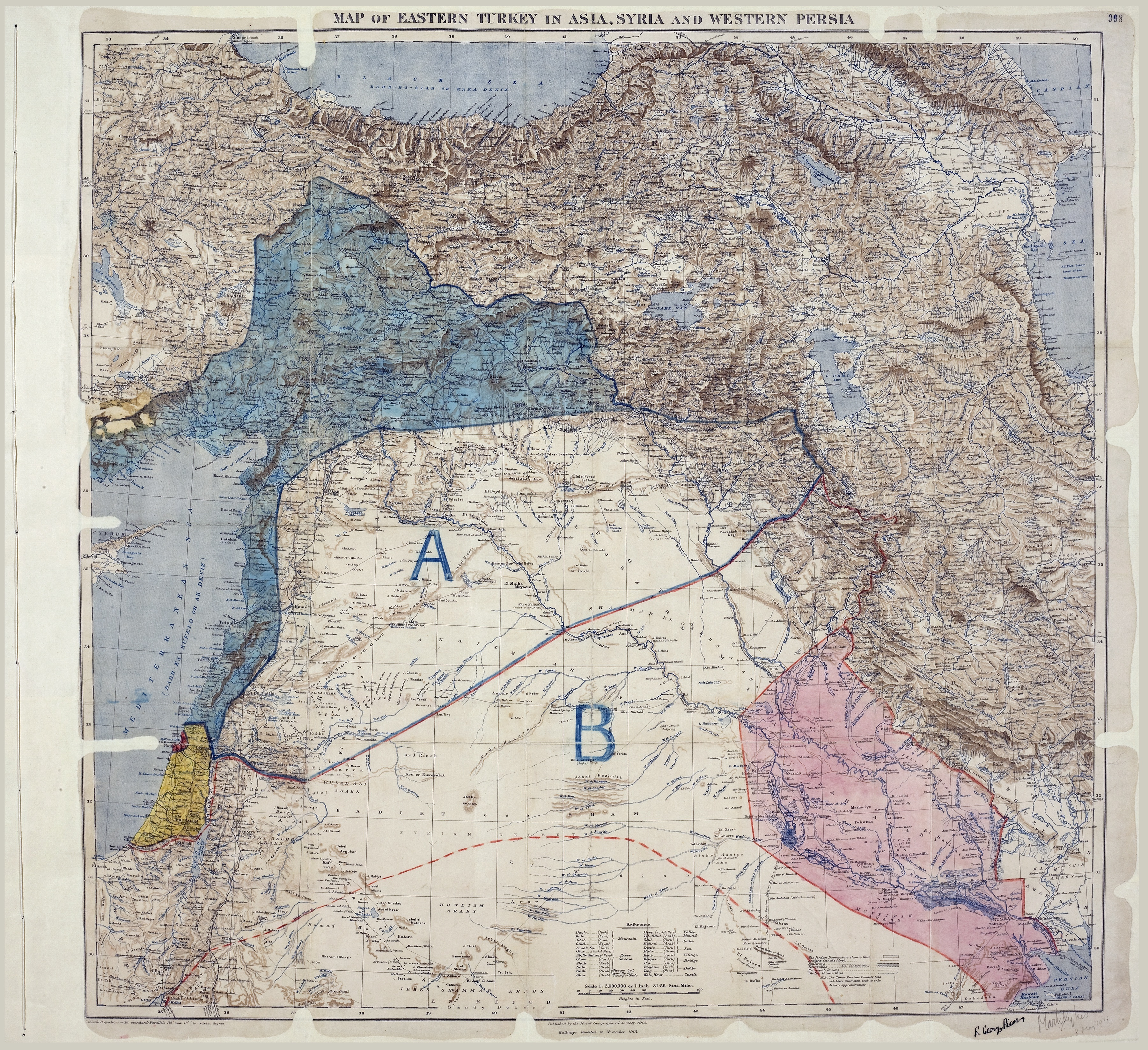 Map of Sykes-Picot Agreement