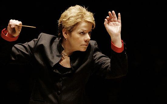 Marin Alsop, music director of the Baltimore Symphony Orchestra, was the first woman to hold that position with a major American orchestra. She is also music director of the São Paulo State Symphony Orchestra.