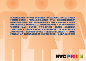 New  York City recently protected 31 gender identities from discrimination. The names of these identities are listed here.