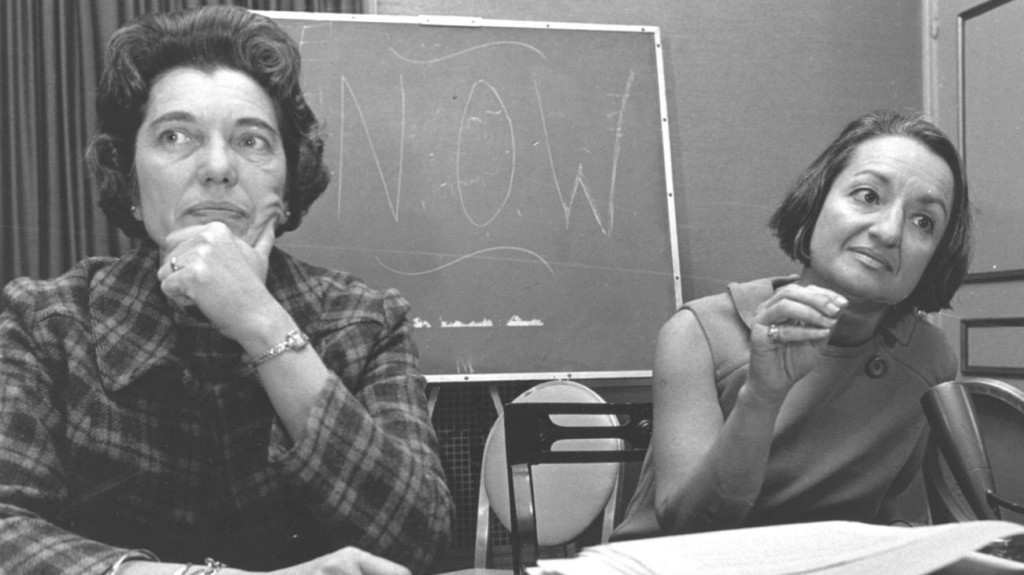 Betty Friedan, right, and Kathryn F. Clarenbach of the University of Wisconsin at the second annual National Organization for Women (NOW) in Washington D.C. in 1967.
