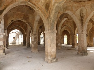 The Great Mosque of Kilwa Kiswani, parts of which date to the 11th century. It is the oldest extant mosque on the East African Coast.