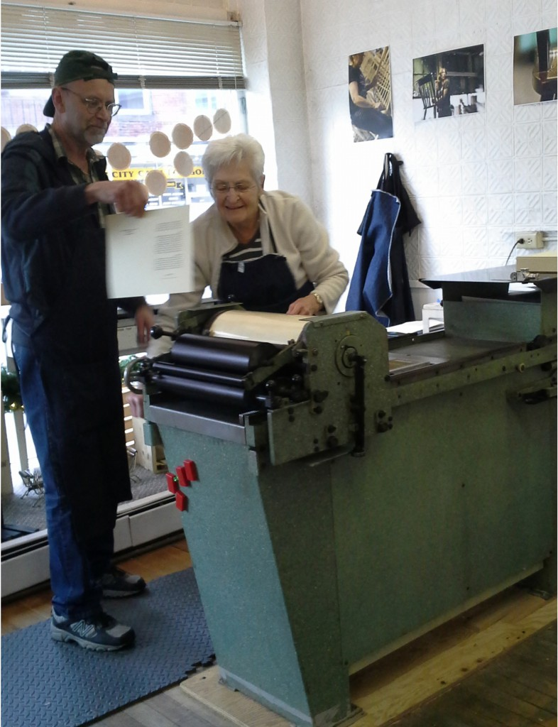 Gardner locals learn how to use the letterpress