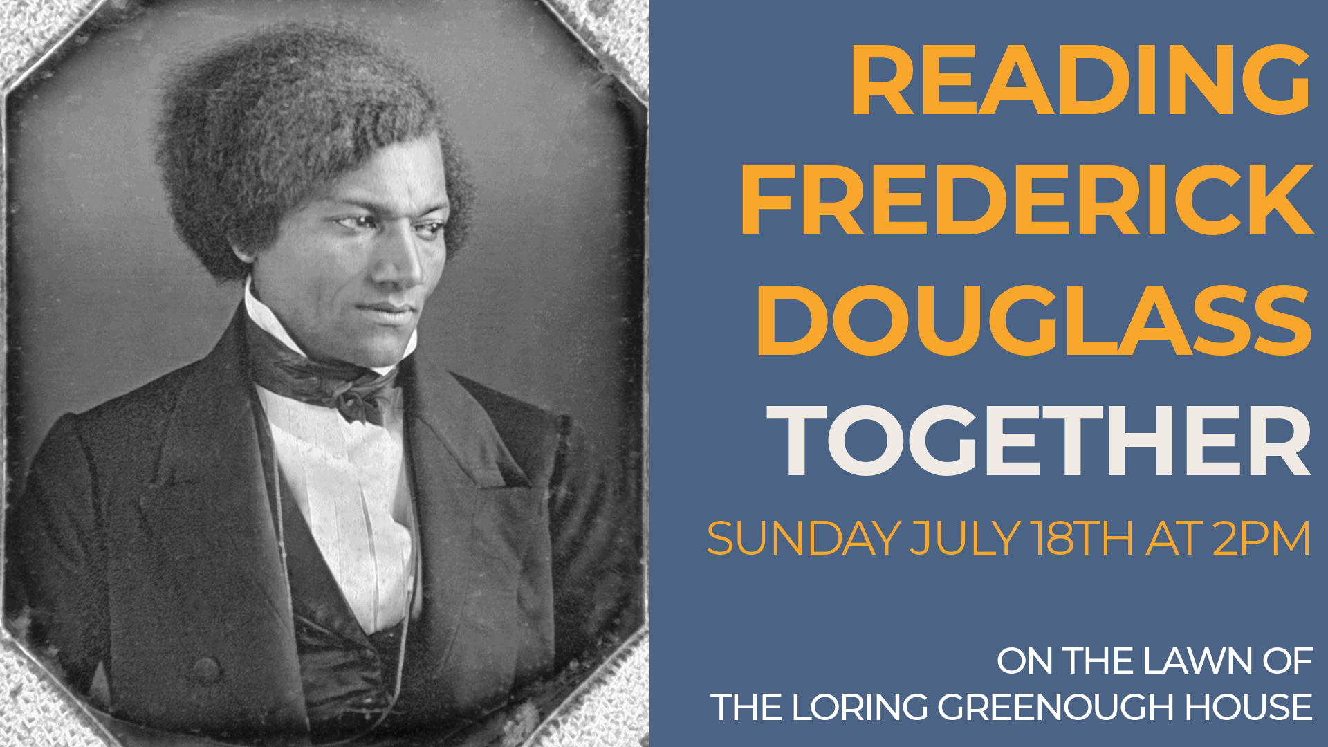 Reading Frederick Douglass Together