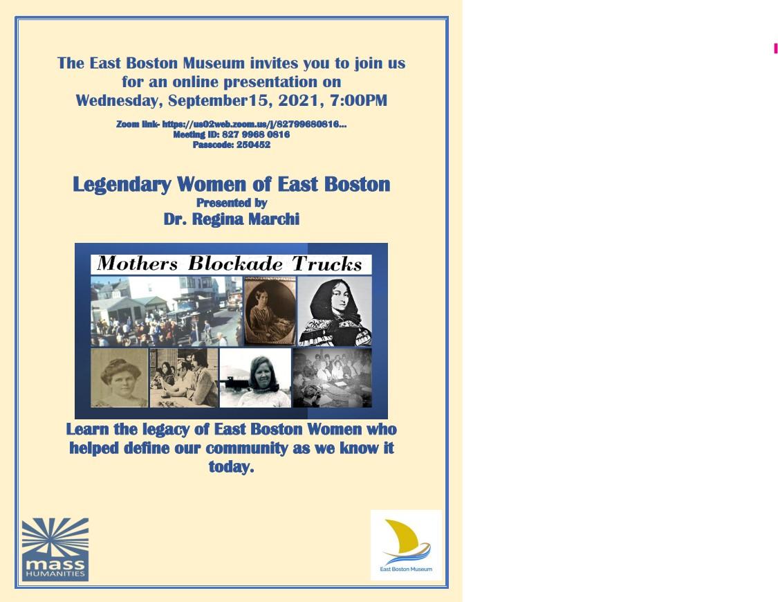 Legendary Women of East Boston